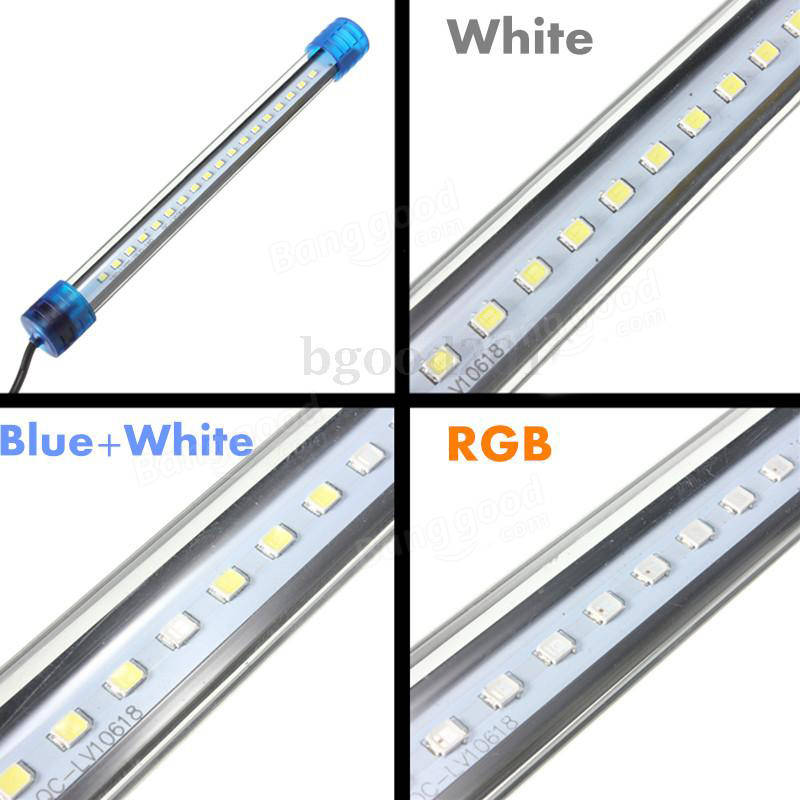 Aquarium Waterproof LED Light Bar Fish Tank Submersible Downlight 5W 50CM