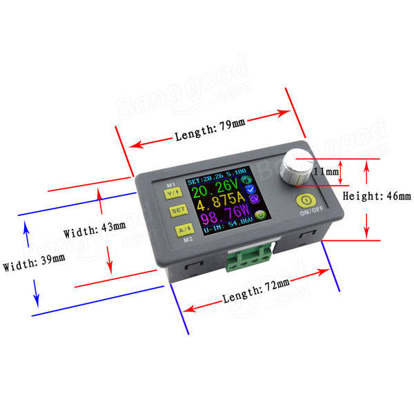 RUIDENG DPS5005 50V 5A Communication Function Constant Voltage Current Step Down Power Supply Module Buck Voltage Converter LCD Voltmeter