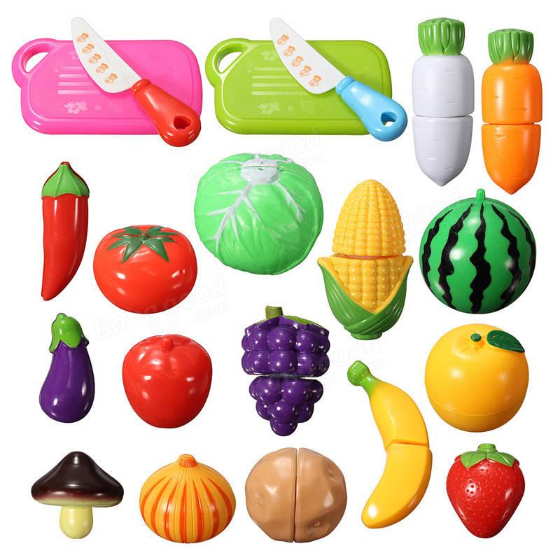 20PCS Fun Cut Obst Gemüse Küche Spielset Schneiden Stück ...