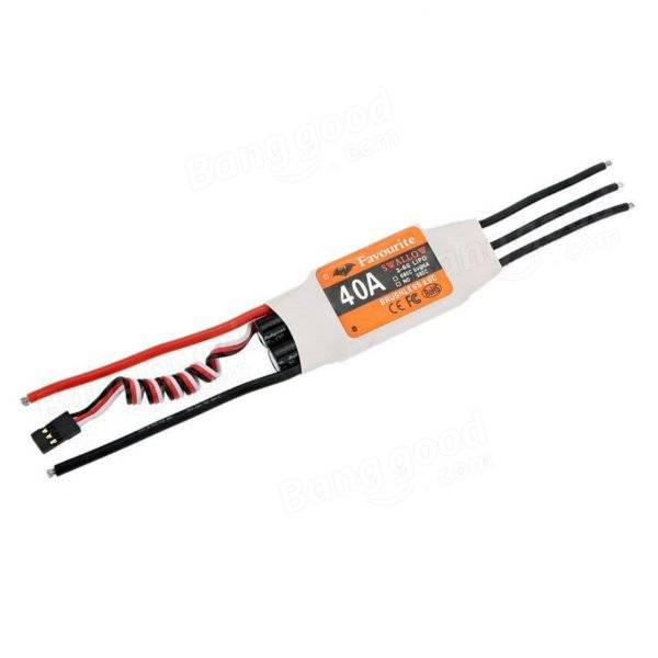 Favourite FVT Swallow Series 40A 2-6S Brushless ESC With 5V 5A SBEC For RC Airplane