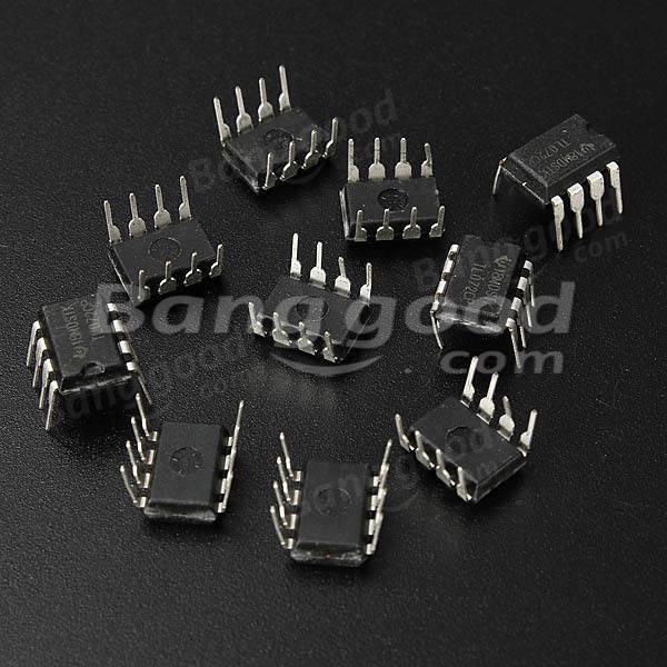 100pcs TL072 TL072CP DIP8 Chorus Delay Op Amps IC Chips