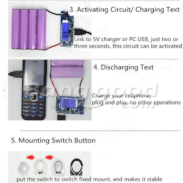 DIY Kit Dual USB 5V 1A 2A Power Bank 18650 Battery Charger Box