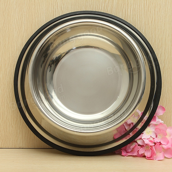 Stainless Steel Pet Bowl Non-slip Feeding For Cat And Dog