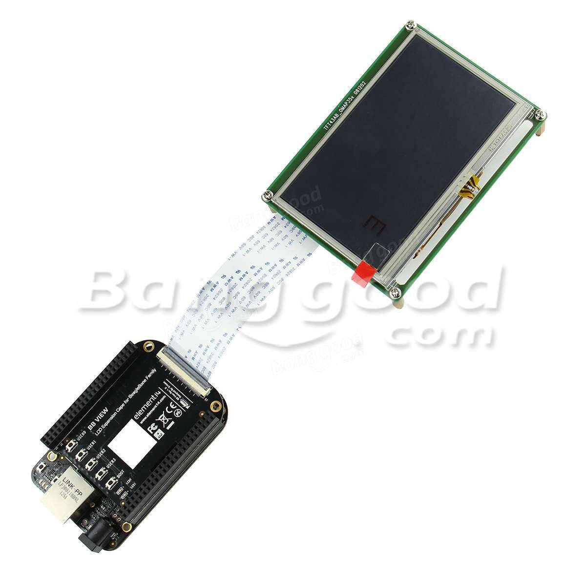 LCD8000-43T 4.3 Inch LCD Sreen + BB VIEW Expansion Board