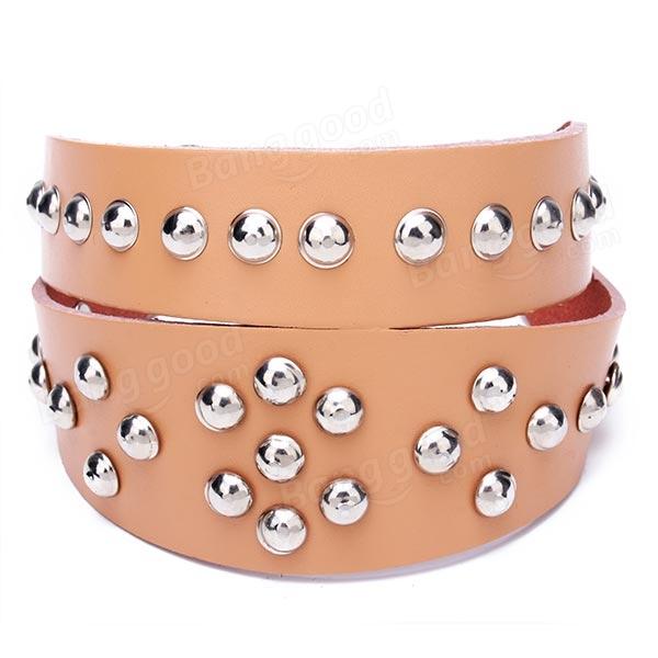 CowhideGenuineRivet Studded Leather PetsDogs Collar