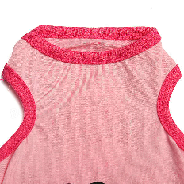 4 Colors I Love My Mommy/Daddy Pet Lovely Doggy Vest Dog Clothes