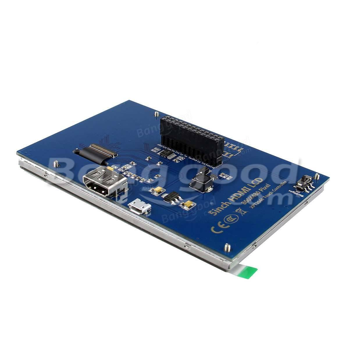 5 Inch HD TFT LCD Touch Screen For Raspberry PI 2 Model B / B+ / A+ / B