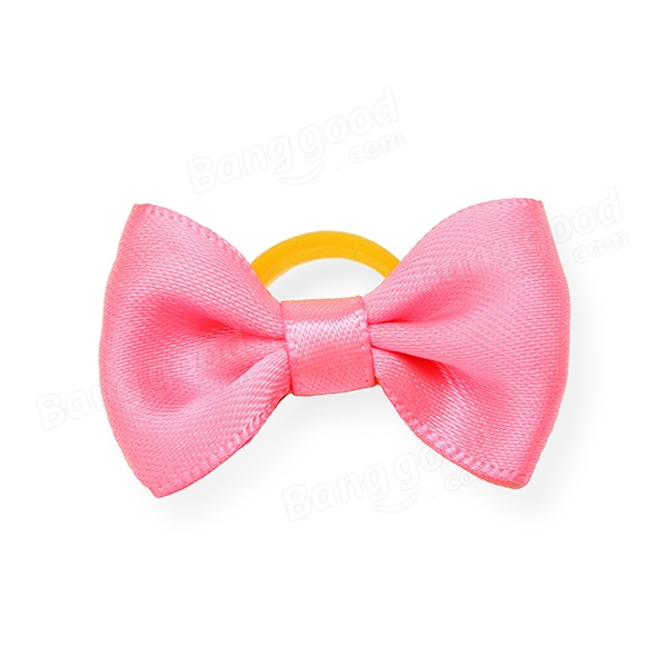Cute Handmade Pet Hair Bows Colorful Pet  Dog Cat Hairpin
